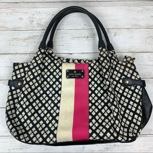 Kate Spade Printed Hobo Shoulder Bag Stipe Leather